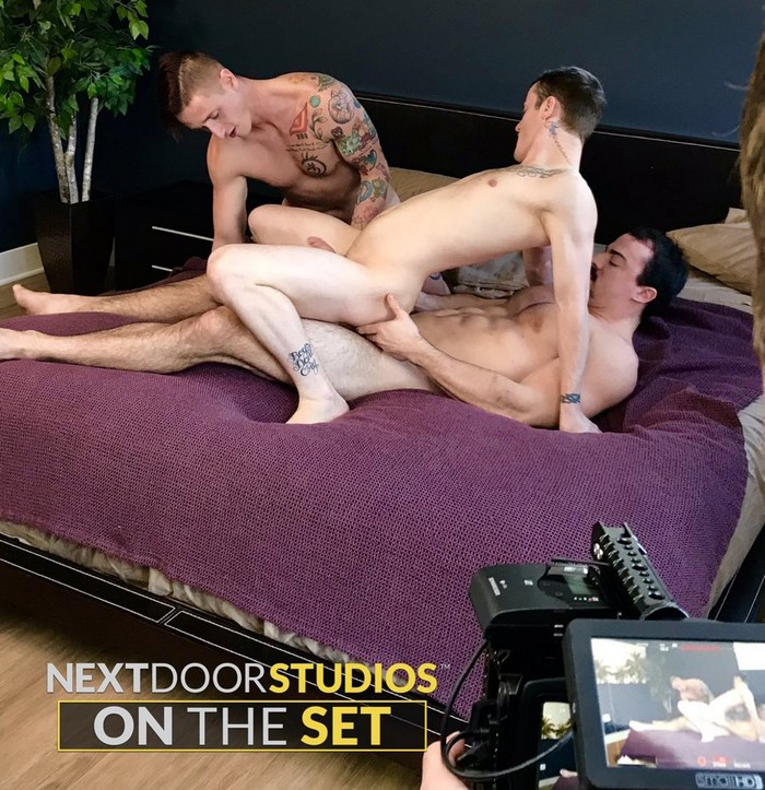 Gay Porn Behind The Scenes Alex James Lance Ford Domenic Green