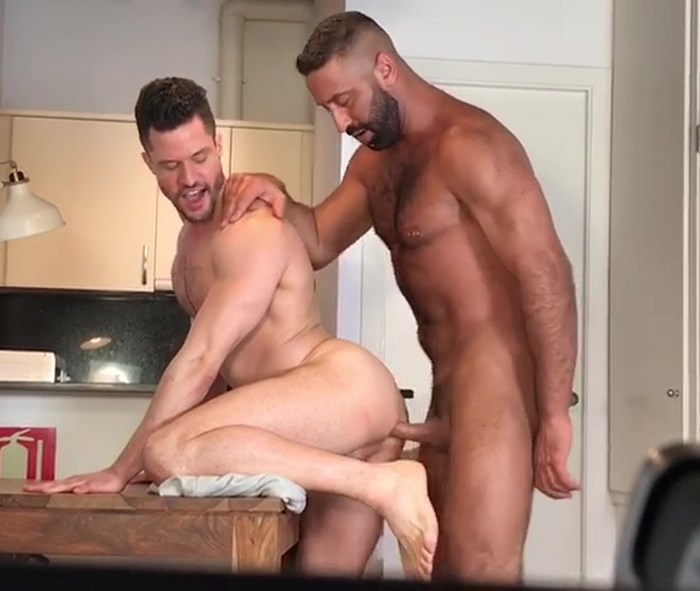 Gay Porn Behind The Scenes Kris de Fabio Lex Anders Bareback Fuck KristenBjorn