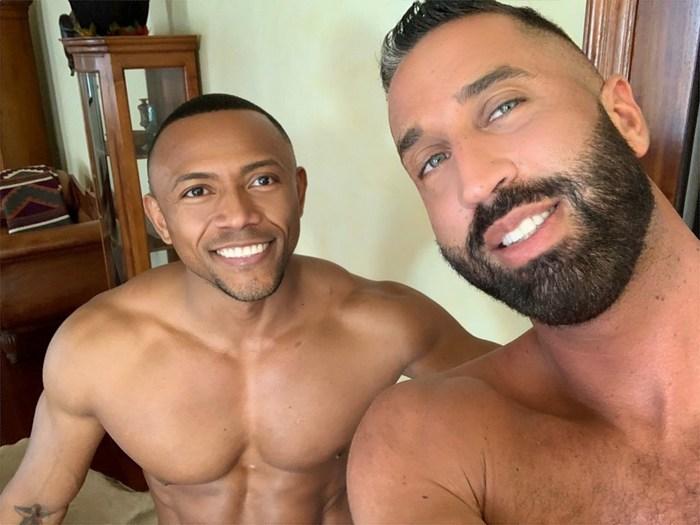 Gay Porn Behind The Scenes Lex Anders Santi Sexy Shirtless Selfie