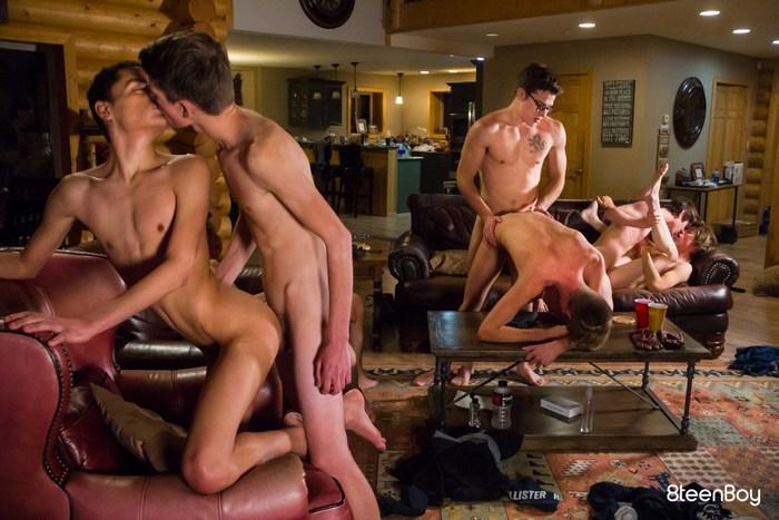 Gay Porn Orgy Blake Mitche Twink Bareback Group Sex