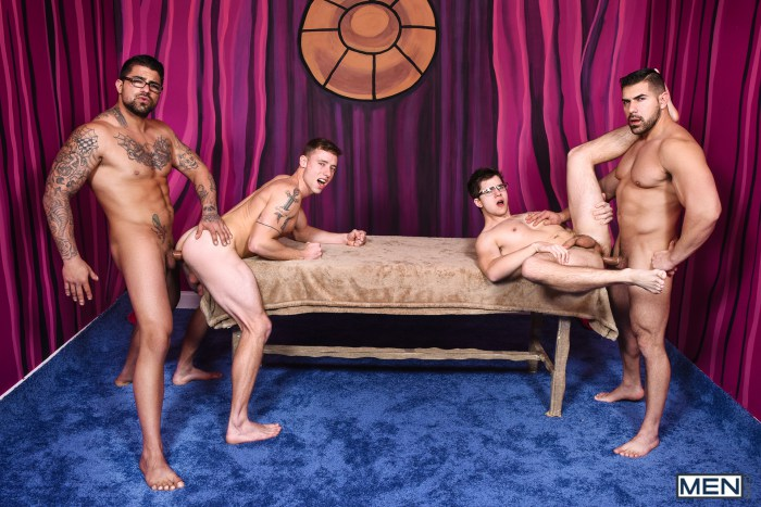 Gay Porn Orgy Ryan Bones Justin Matthews Damien Stone Will Braun