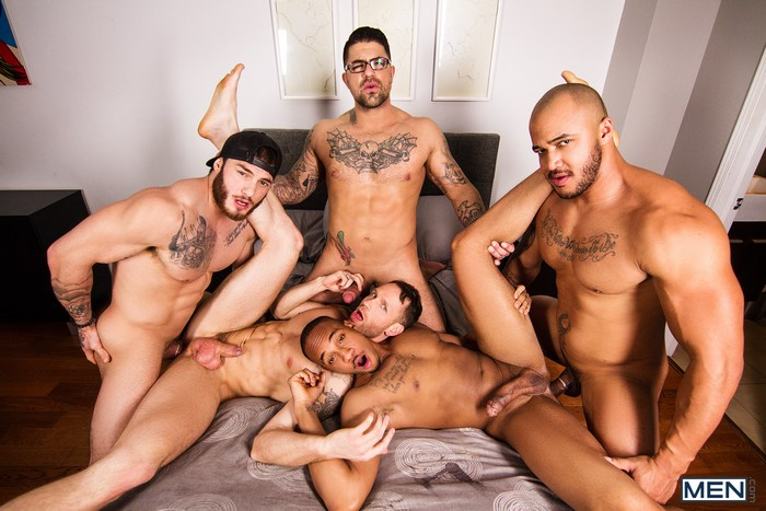 Gay Porn Orgy William Seed Ryan Bones Kit Cohen Jason Vario Trent King
