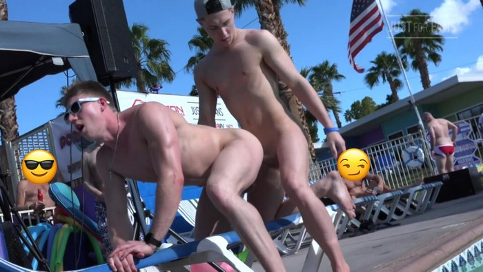 Wess Russel Gay Porn Tristan Hunter Bareback Pubilc Pool Sex PornDisco Palm Springs