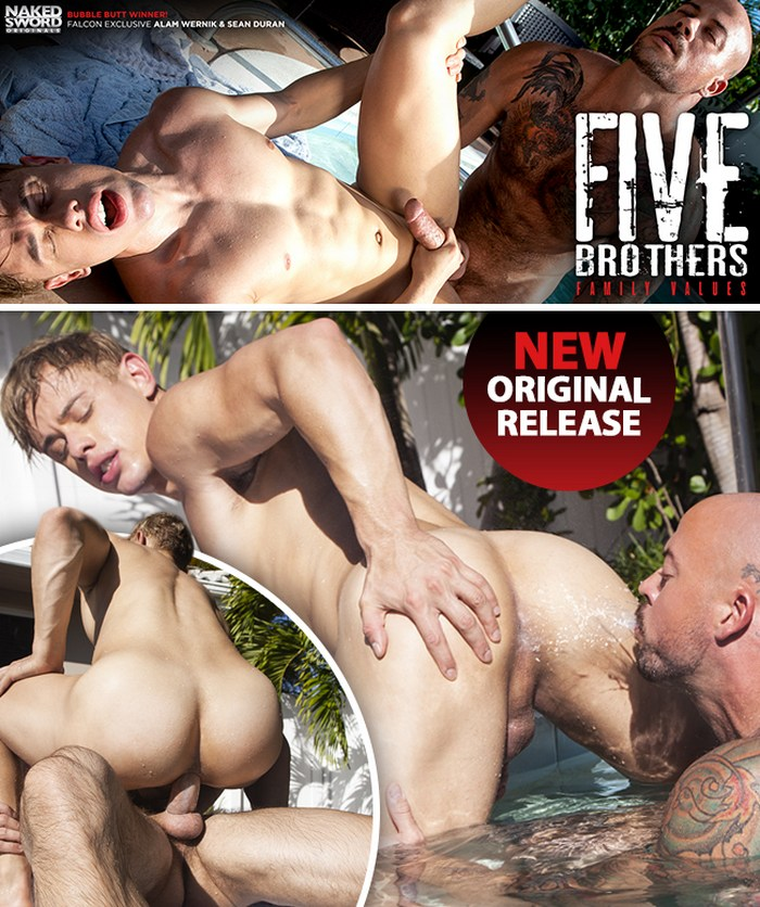 Alam Wernik Gay Porn Sean Duran NakedSword Five Brothers Family Values