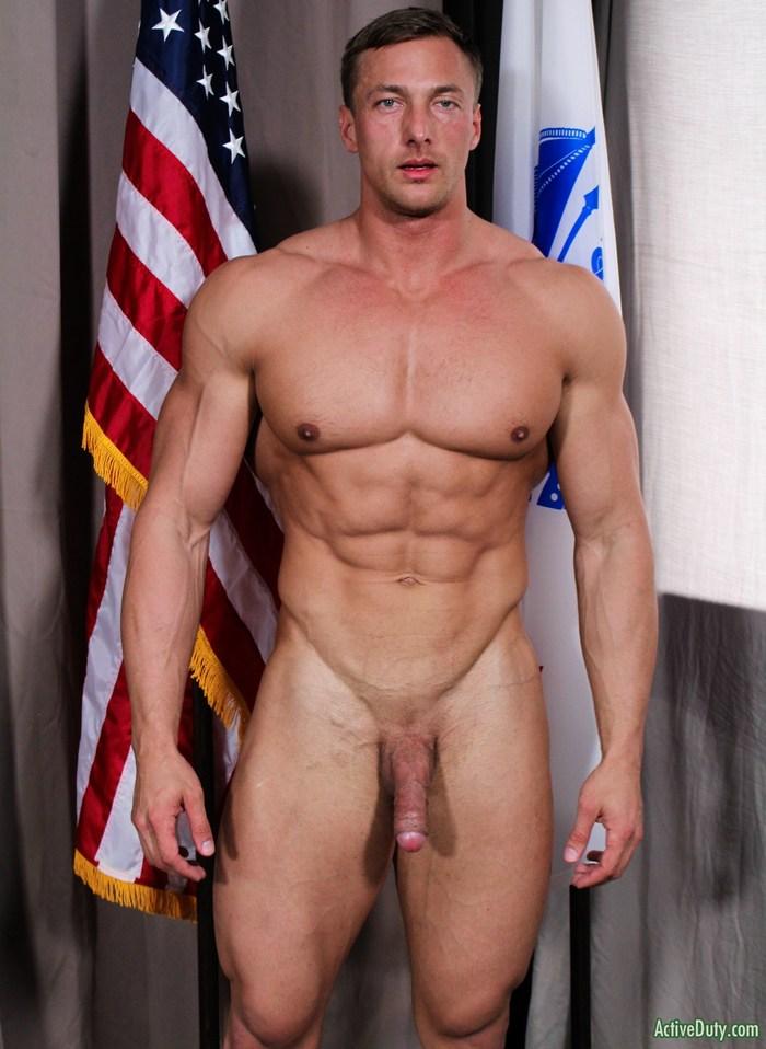 Ivan D ActiveDuty Muscle Hunk Naked Bodybuilder Big Dick