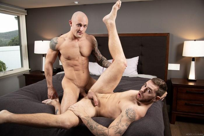 Trevor Laster Gay Porn Muscle Hunk Carter Woods