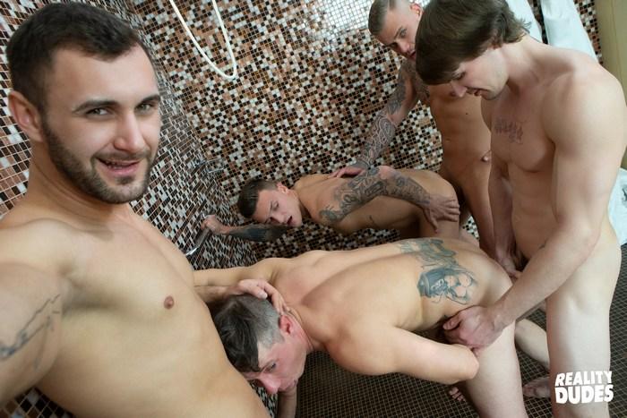 Dudes In Public Bathhouse Bareback Orgy RealityDudes