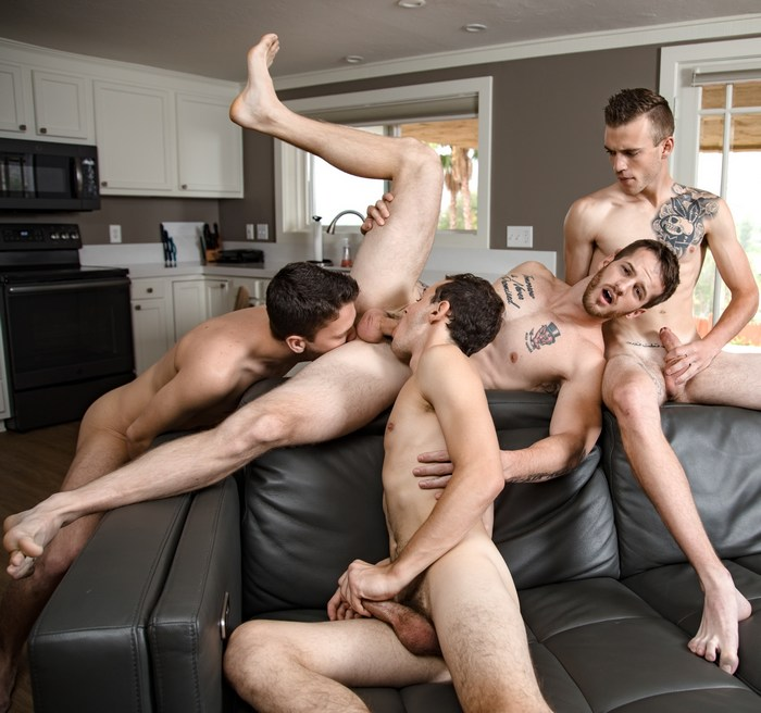 Gay Porn Orgy Quentin Gainz Scott Finn Evan Landers Ian Oakley