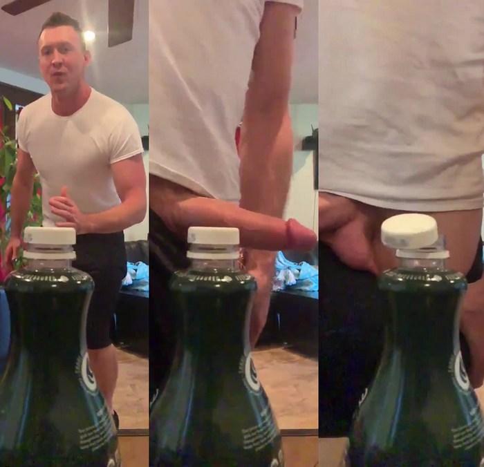BottleCapChallenge Gay Porn Pierce Paris Big Dick