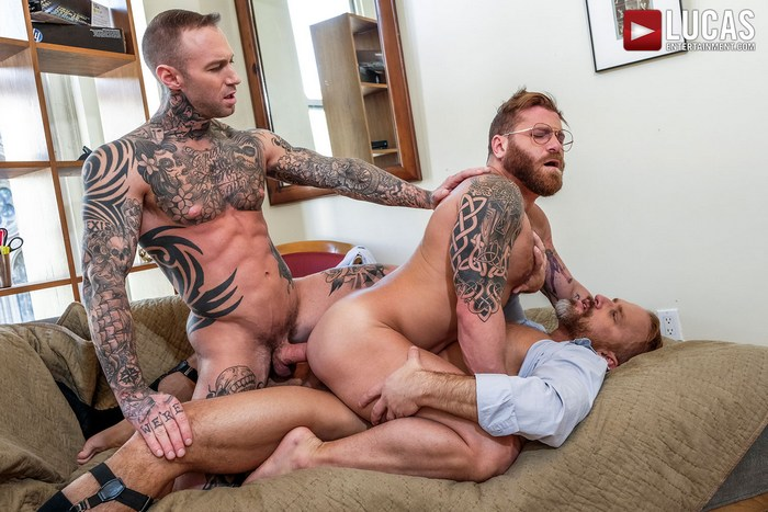 Gay Porn Double Penetration Dylan James Dirk Caber Riley Mitchel
