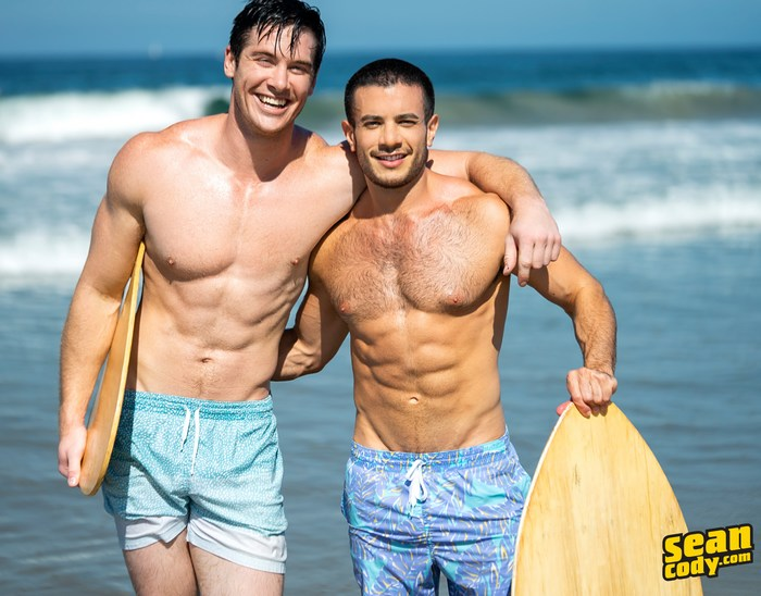 Jax Sean Cody Manny Gay Porn Stars Shirtless Muscle Hunk Surfer