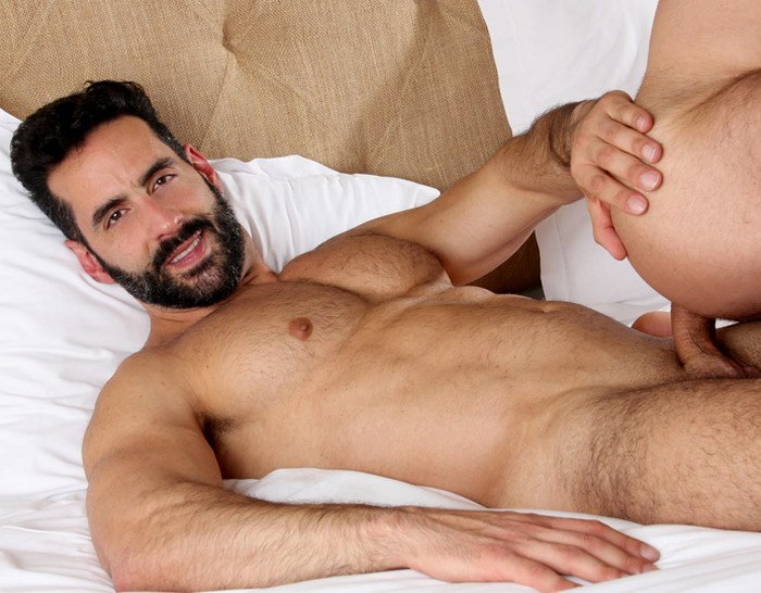 Massimo Arad Gay Porn Star Hot Daddy Bearded Shirtless Hunk KristenBjorn X
