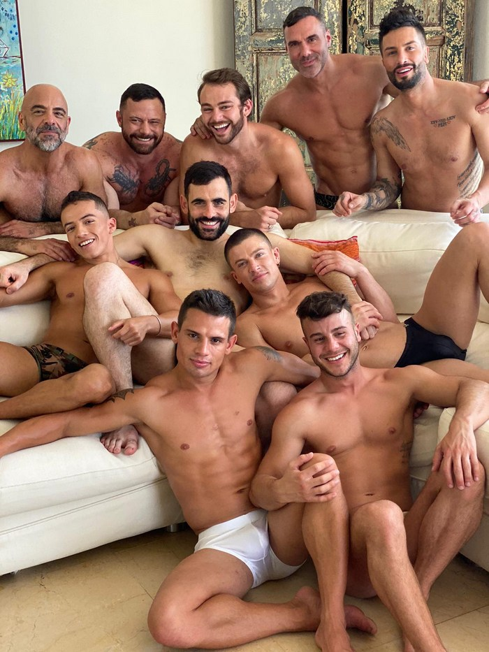 Gay Porn Stars Group Shirtless Muscle Studs LucasEntertainment Mexico