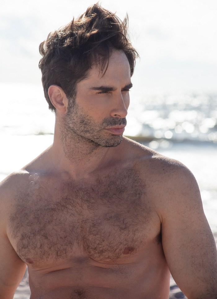 Michael Lucas Gay Porn Star Shirtless Hairy Chest