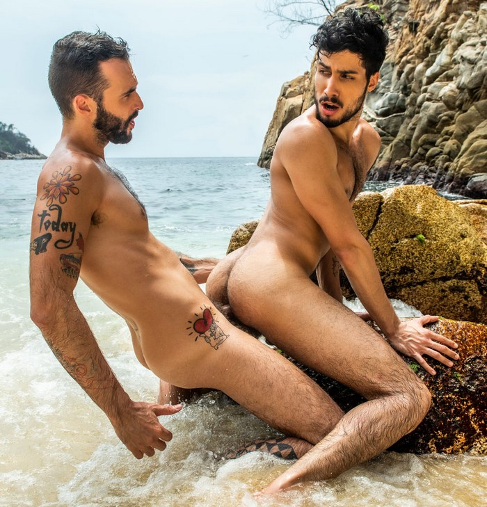 Paulo Saint Gay Porn Pietro Siren Beach Fuck Outdoor Public Sex